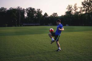 Player Juggling ball